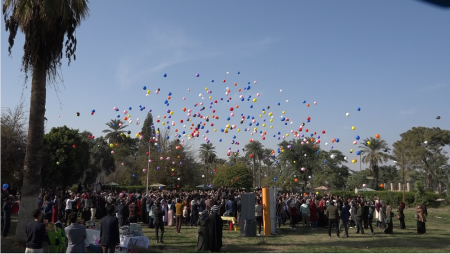 """The students of Jabir ibn Hayyan Medical University organize balloon festival and charity campaign """"orphan's delight"""""""