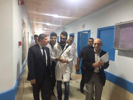 President of the university makes an inspection tour for the students training center at Al-zahraa teaching hospital