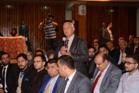The representatives of the university and students participate in the academic forum