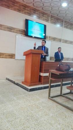 A lecturer from the university participates in the international conference for the medical and biological techniques
