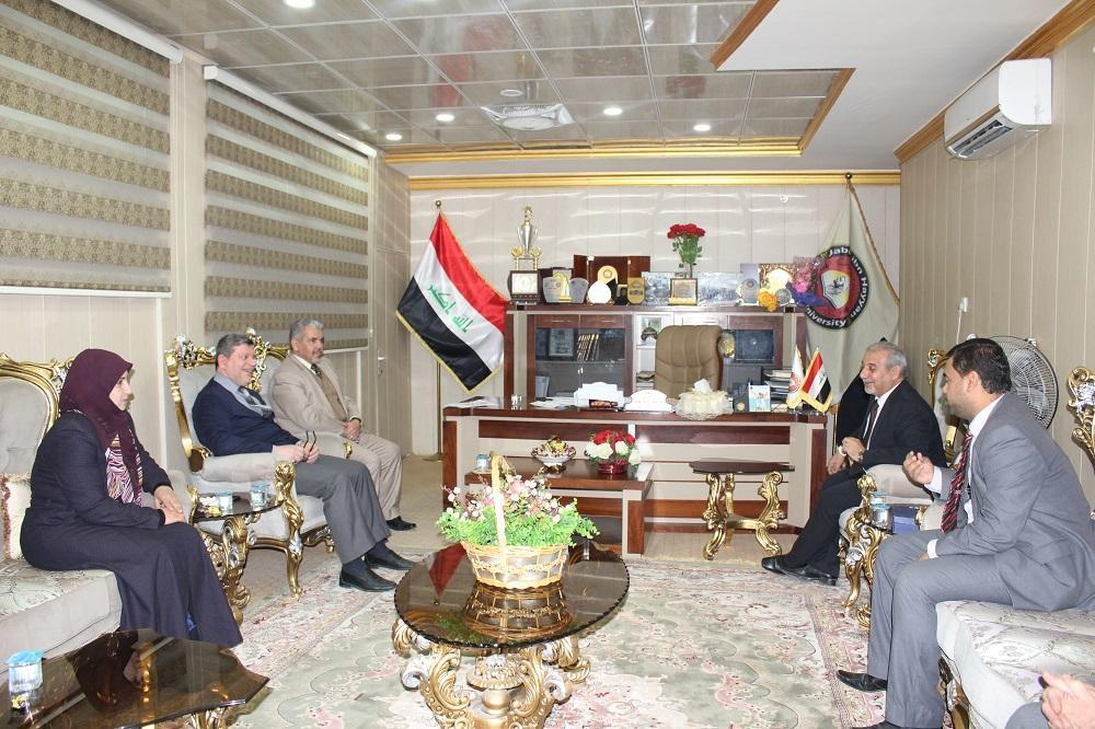 President of the University receives the academicians chief in Al-Najaf