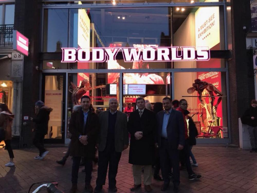 President of the university visits the association of Von Hagens plastination in Germany