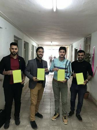Jabir ibn Hayyan Medical University awards electronic tablet device to the students of fourth stage