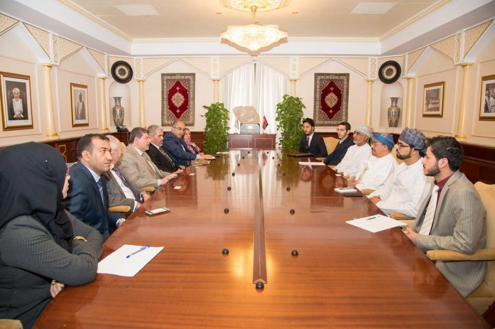 An academic and students delegation from Jabir ibn Hayyan Medical University visits the University of sultan Qapoos in Muscat