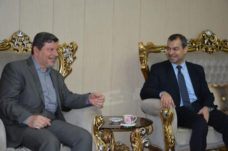 President of the university received the member of parliament      Prof.Dr.Ali Al-shukri