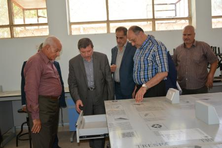 The university president inspected the basic sciences labs for observing the stages of working