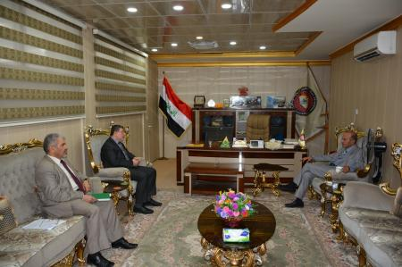 President of the university receives  the counselor of    the minister of health for psychological affairs