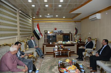 President of the university received the president of Kufa University and a number of guests