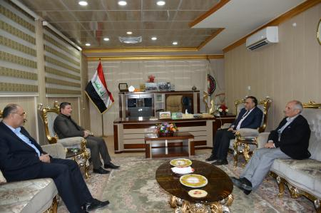 President of the university received the member of Parliament Mr. Sadiq AL-leban