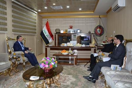 President of the University receives the director of IEEE /Iraq branch