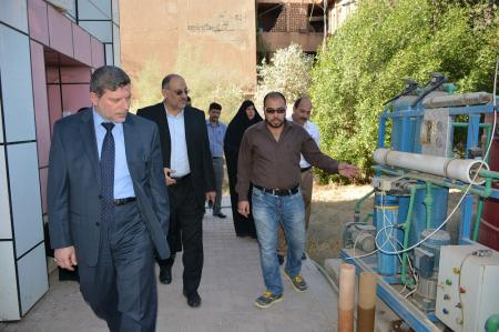 President of the university inspects the dormitories building