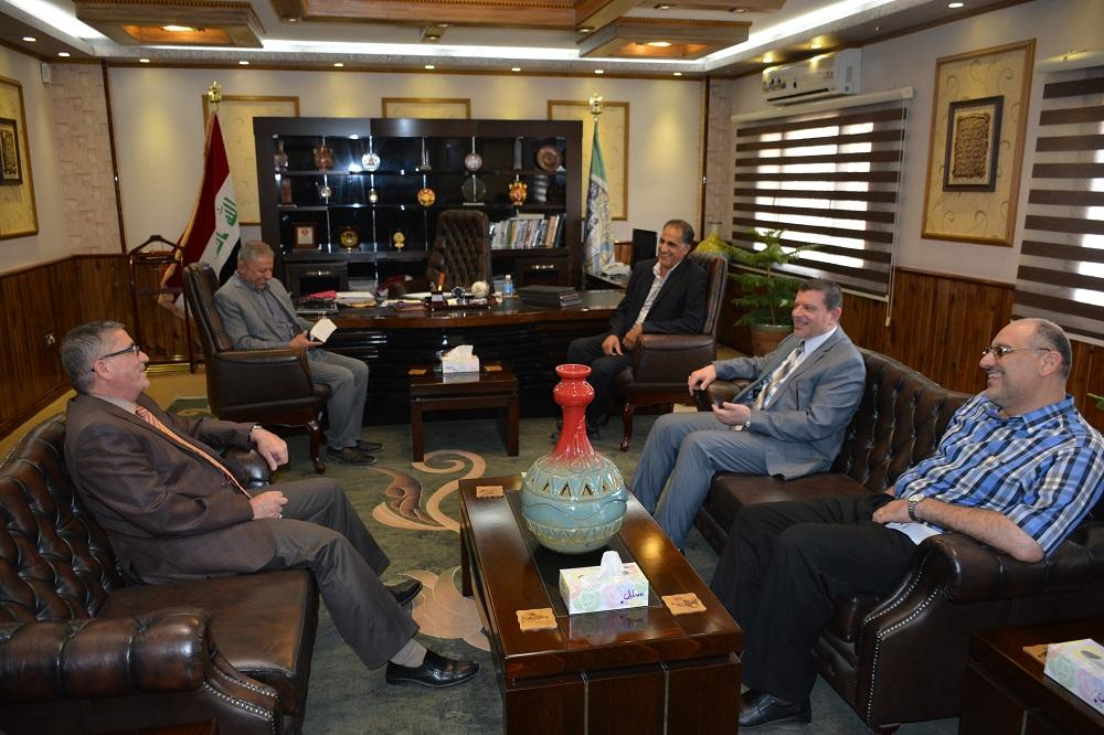 The President of Jaber Ibn Hayan Medical University visit the University of Babylon
