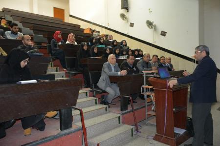 A professor of  gastroenterology  diseases in the  university of Toledo in U.S.A  gives a lecture for our university professors and students of fourth stage at the Faculty of Medicine