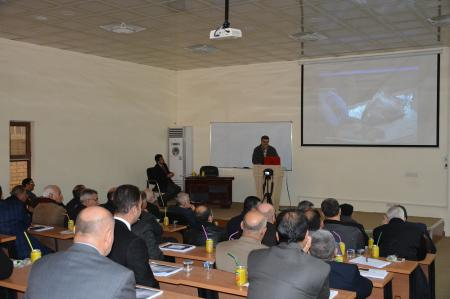 Jabir ibn Hayyan Medical University organizes a seminar for the  surgical Iranian Board Council  and  Iraqi Board   supervisors and professors in the middle Euphrates provinces