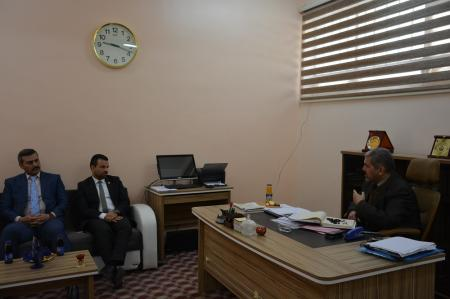 The head of quality assurance and academic accreditation department receives a staff  of Human Rights Commission