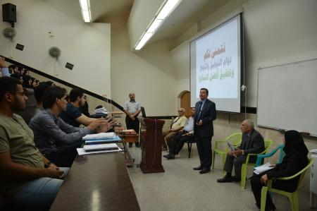 The dean of the Faculty of Medicine meets with  the students of fourth stages