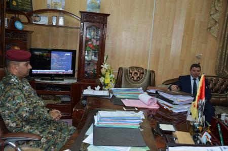 A delegation from the university has visited the chief police for congratulating him on assuming the position.