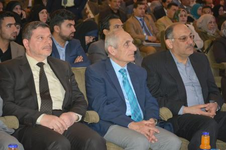The President of the university and his scientific and administrative assistants have attended the first international conference held by Nursing college.