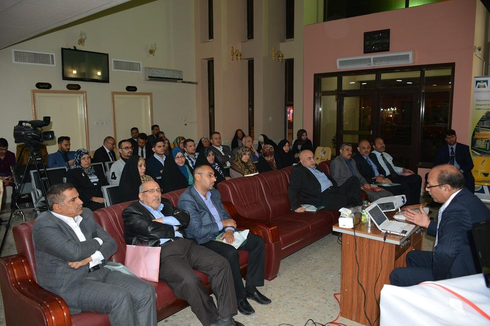 The college of medicine has organized  a symposium under the emblem (intensifying efforts between scientific and healthy institutions with medical companies for serving community and patients) .