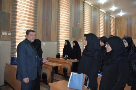 President of the university  makes an inspection tour at the studying halls
