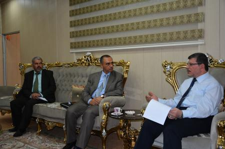 The university president has met a  delegation from (Innovators Company for practicing and organizing seminars and workshops)