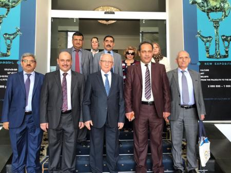 The  vice-chancellor of scientific affairs participates with a delegation of high level  to visit Republic of Armenia