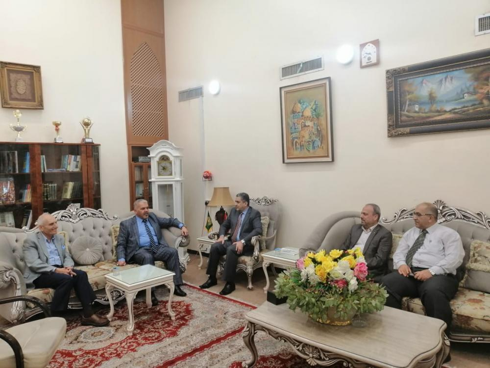 President of the University visits the president of Kufa University