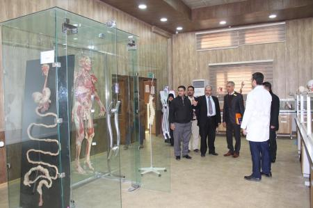Ministerial committee makes an inspection tour for the labs of Faculty of Medicine