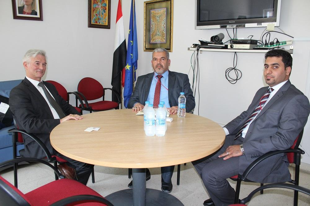 President of the University visits the ambassador of European Union in Iraq