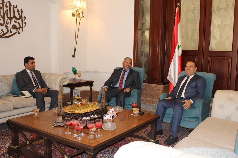 President of the University meets the Lebanese ambassador