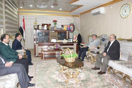 President of the University receives delegation from the holy shrine of Imam Ali (Peace be upon him