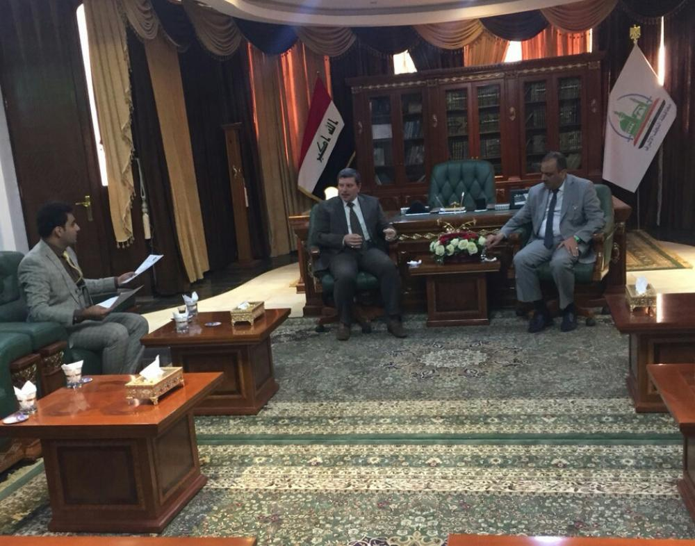 President of the University visits the governor of Najaf