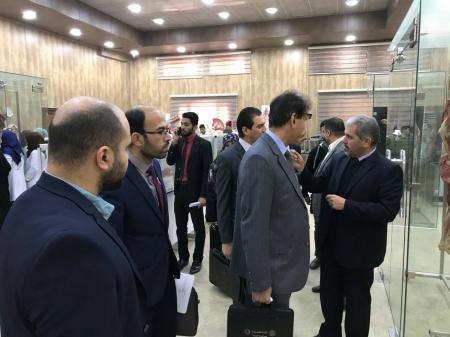 A  ministerial committee makes an inspection tour at the Faculty of Medicine