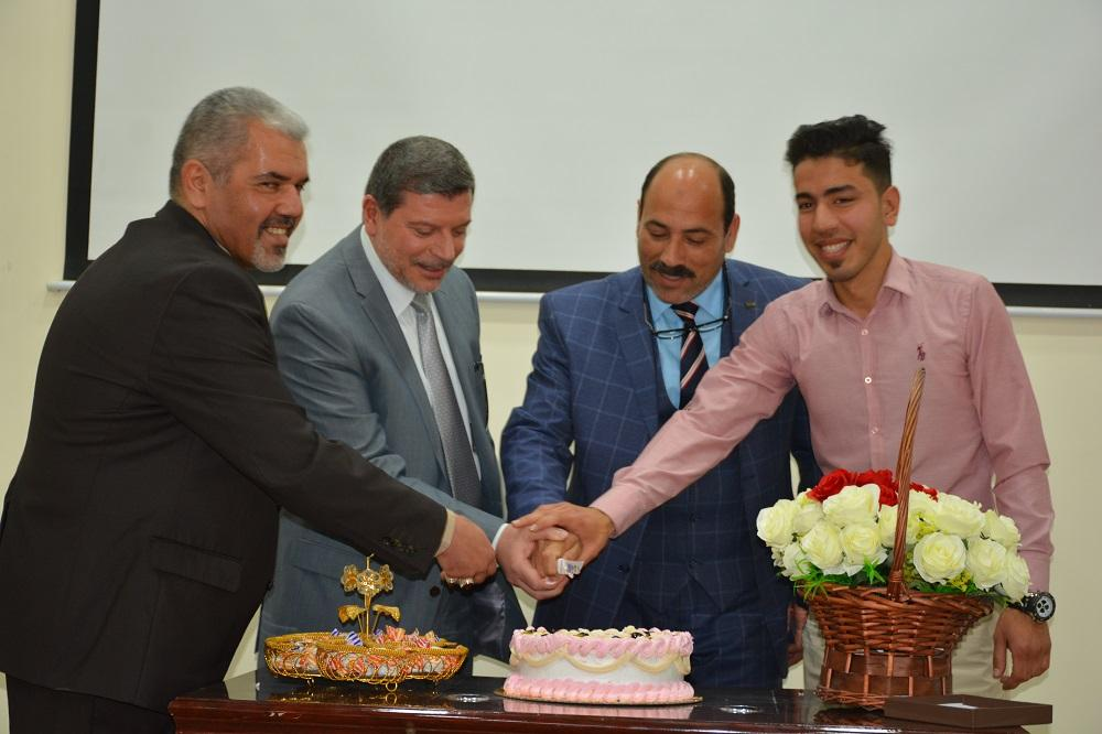 The students of Faculty of Medicine arrange an honor ceremony to the professor Bassim Zwein for his retirement