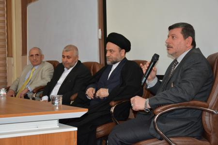 The Head of the shia Endowment and the general manager of  religious shrines   visited the Faculty of Medicine at  Jiber Ibn Hayan Medical University