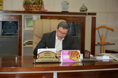 The president of Jabir ibn Hayyan medical university has published a research in an American journal