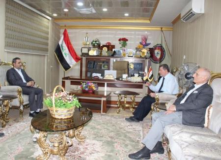 President of the University receives the president of Islamic  University