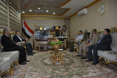 Delegation from the secretariat of holy shrine of Imam Ali suggests to sign memorandum of understanding with the University